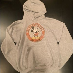 Hanes Mickey Mouse gray hoodie